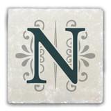 """N"" Alphabet 2 Tumbled Stone Coaster"