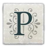 """P"" Alphabet 2 Tumbled Stone Coaster"