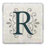 """R"" Alphabet 2 Tumbled Stone Coaster"