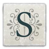 """S"" Alphabet 2 Tumbled Stone Coaster"