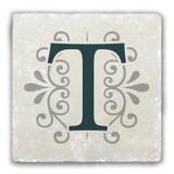 """T"" Alphabet 2 Tumbled Stone Coaster"