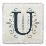 """""""U"""" Alphabet 2 Tumbled Stone Coaster"""