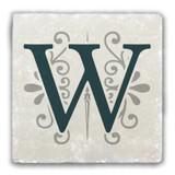 """W"" Alphabet 2 Tumbled Stone Coaster"