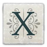 """X"" Alphabet 2 Tumbled Stone Coaster"