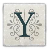 """""""Y"""" Alphabet 2 Tumbled Stone Coaster"""
