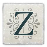 """Z"" Alphabet 2 Tumbled Stone Coaster"
