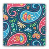 European Paisley  Design 1 Tumbled Stone Coaster