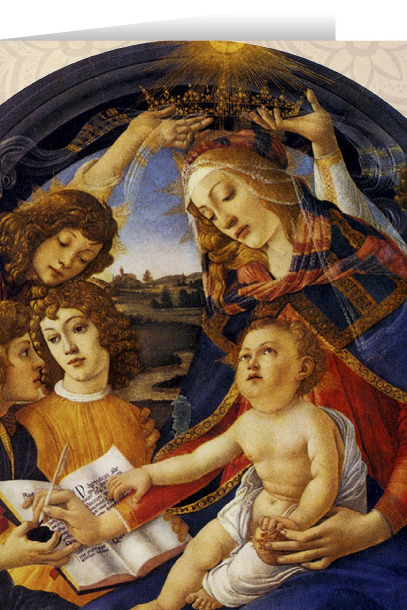 Beautiful Religious Christmas Cards.Madonna Of The Magnificat Christmas Cards 25 Cards