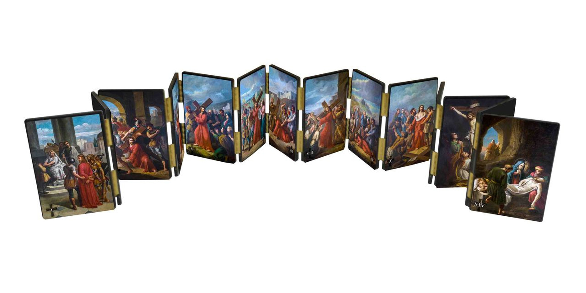 Bertucci Stations of the Cross Hinged Mantle Set