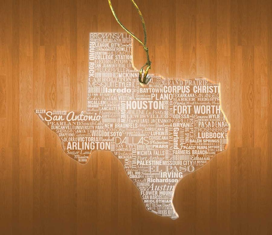 TexasAcrylic State Ornament