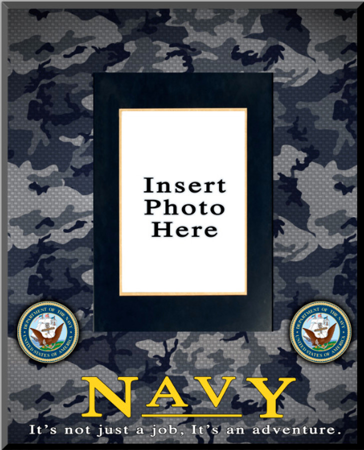 """""""Navy"""" Picture Frame Vertical"""