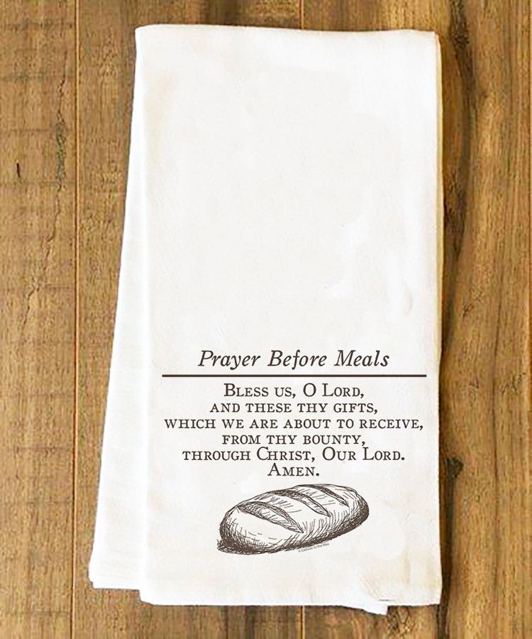 Prayer Before Meals Tea Towel