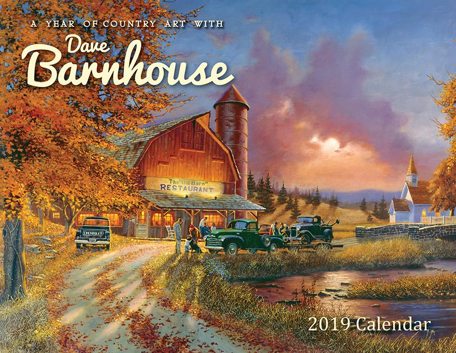 Dave Barnhouse Country Art 2019 Wall Calendar