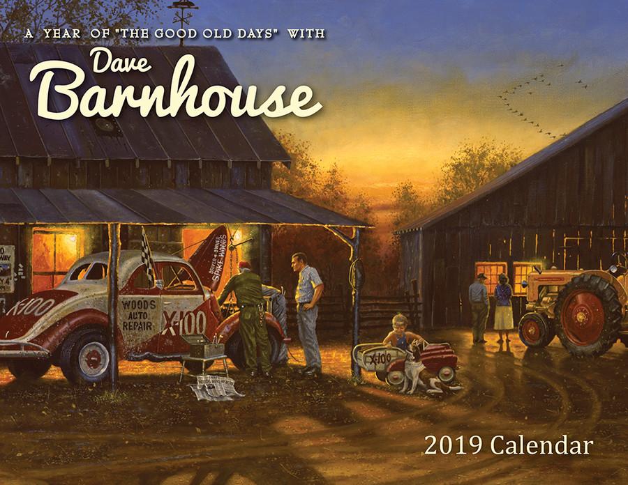 """Dave Barnhouse """"Good Old Days"""" 2019 Wall Calendar"""