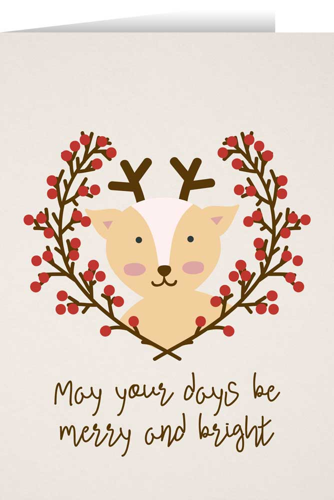 Reindeer Christmas Cards.May Your Days Be Merry With Reindeer Christmas Cards Box Of 25
