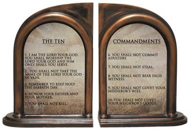 Cross Gifts The Ten Commandments Metal Visor Clip