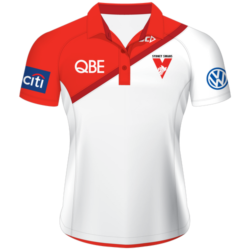 Sydney Swans 2015 Players Polo White - Ladies