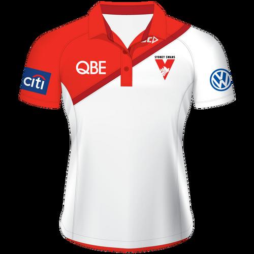 Sydney Swans 2015 Players Polo White - Ladies