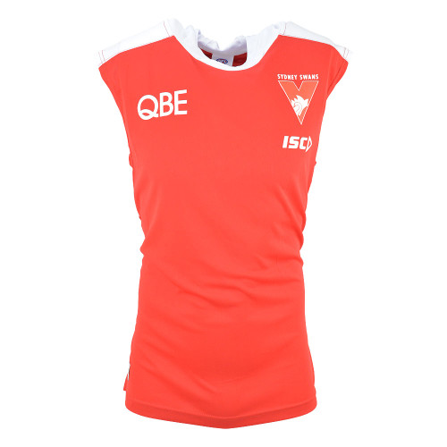 Sydney Swans 2019 ISC Mens Warm Up Top Tank Red