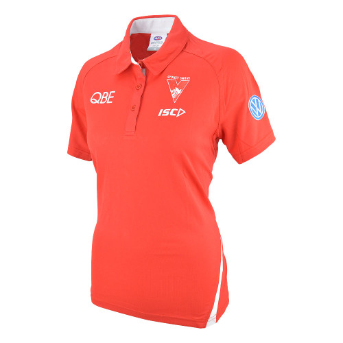 Sydney Swans 2019 ISC Womens Media Polo Red
