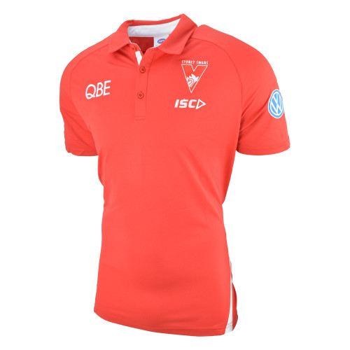 Sydney Swans 2019 ISC Mens Media Polo Red