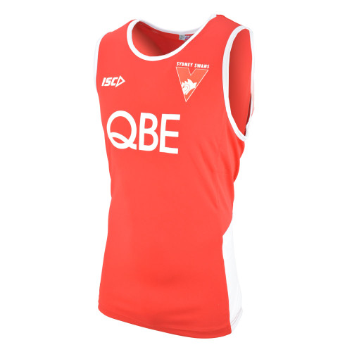 Sydney Swans 2019 ISC Kids Training Singlet Red