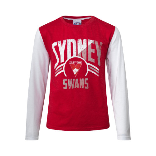 Sydney Swans 2019 Youth Supporter Long Sleeve Tee