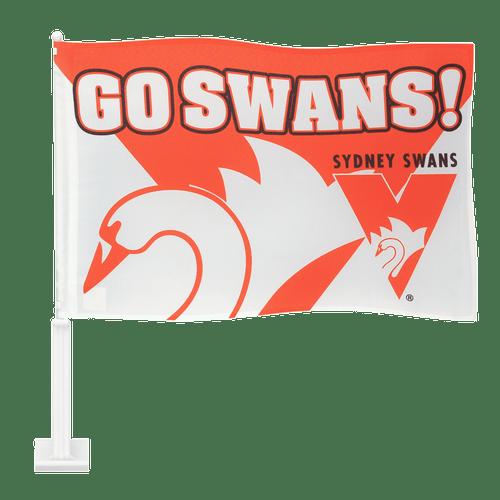 Sydney Swans Go Swans Car Flag