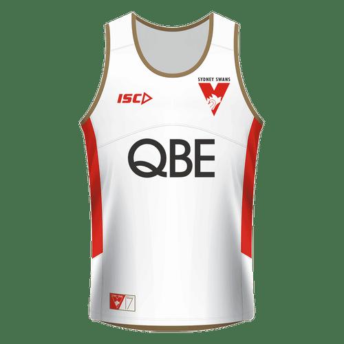 Sydney Swans 2017 Mens Training Singlet - White