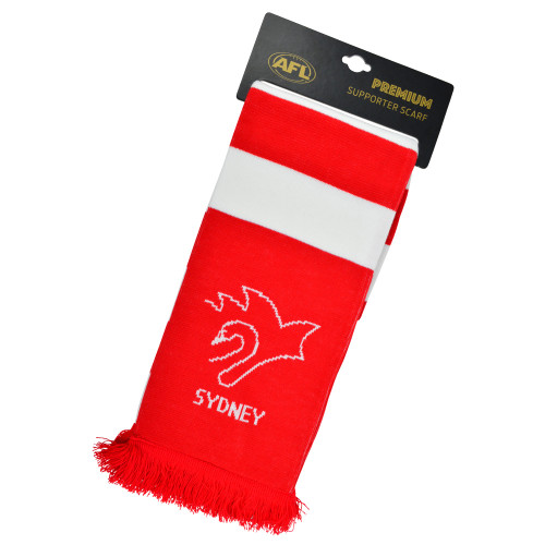 Sydney Swans Premium Supporter Scarf - Hooped