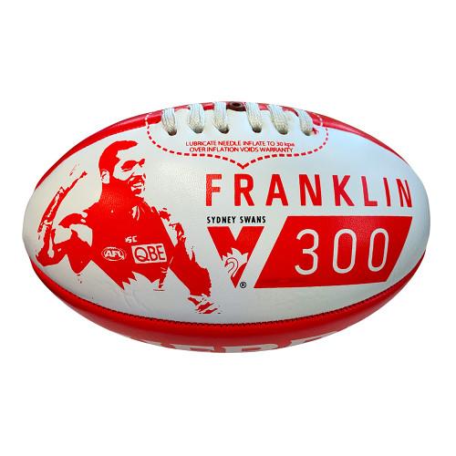 Sydney Swans Lance Franklin 300 Games 20cm Football
