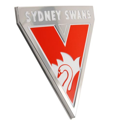 Sydney Swans 3D Chrome Supporter Emblem