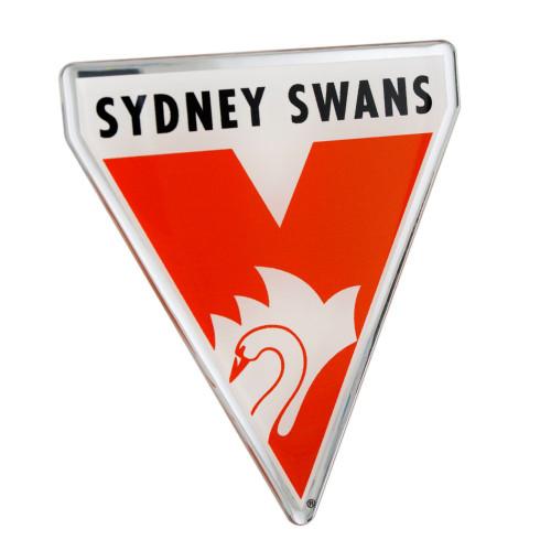 Sydney Swans Chrome Supporter Logo