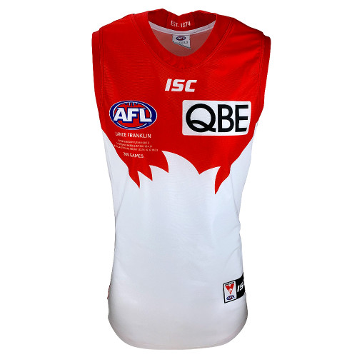 Sydney Swans Lance Franklin 300 Games Player Guernsey Special / L/XL