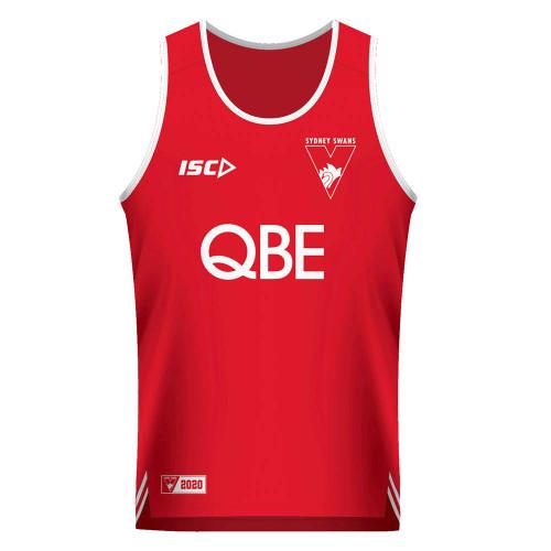 Sydney Swans 2020 ISC Mens Training Singlet Red