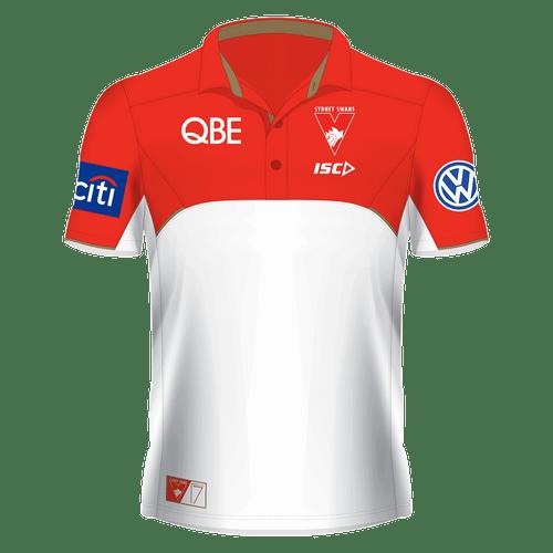 Sydney Swans 2017 Mens Media Polo White