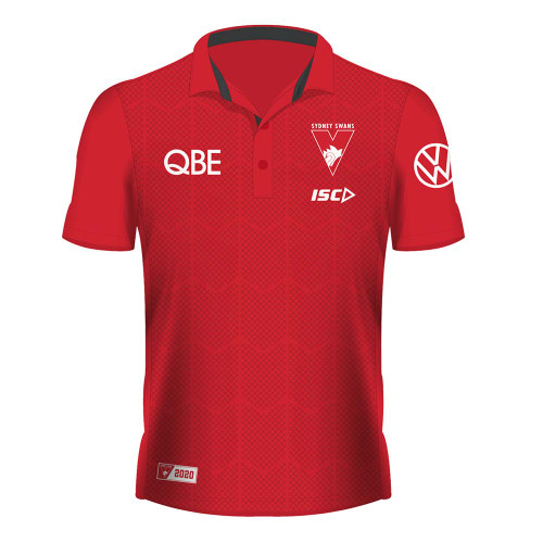 Sydney Swans 2020 ISC Mens Sublimated Polo Red