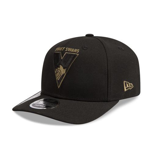 Sydney Swans New Era 9FIFTY Stretch Black/Olive Cap
