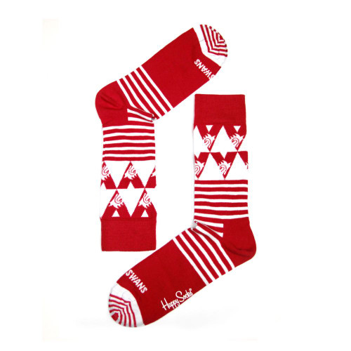 Sydney Swans Cheer Striped Happy Socks