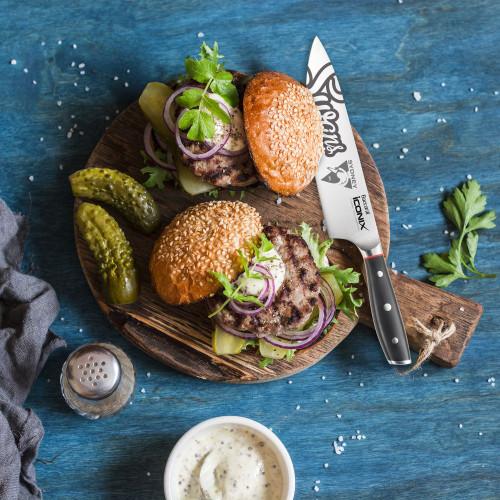 Sydney Swans Baccarat Iconix Chefs Knife 20cm