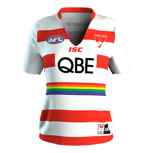 Sydney Swans 2017 Ladies Pride Training Guernsey