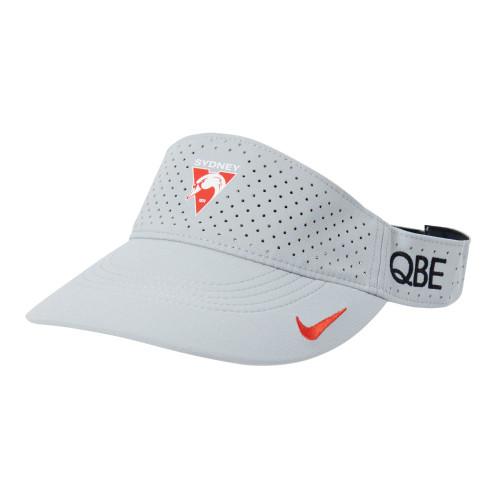 Sydney Swans 2021 Nike Wolf Grey Visor