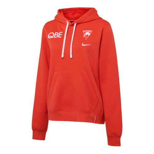 Sydney Swans 2021 Nike Womens Cotton Hoodie Red
