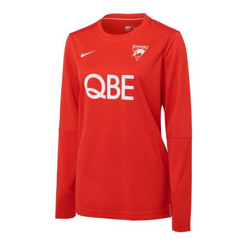 Sydney Swans 2021 Nike Womens LS UV Training Top Red