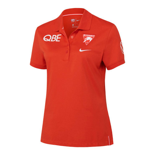 Sydney Swans 2021 Nike Womens Performance Polo Red