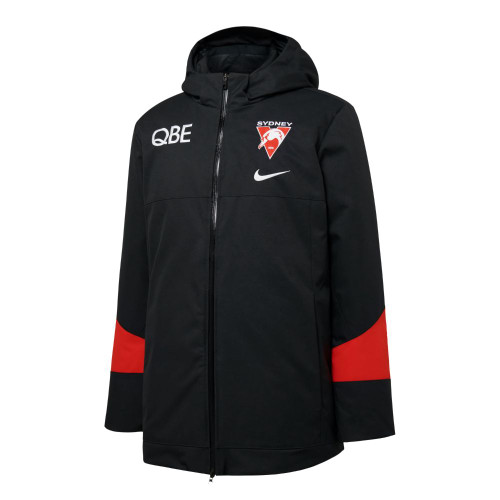 Sydney Swans 2021 Nike Mens Down Filled Parka Anthracite