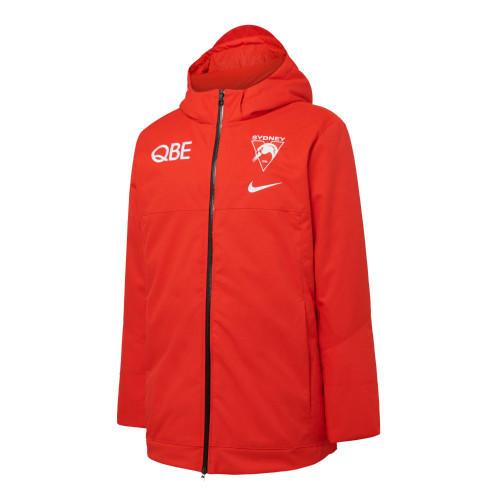 Sydney Swans 2021 Nike Mens Down Filled Parka Red