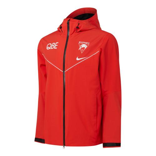 Sydney Swans 2021 Nike Mens Waterproof Jacket Red