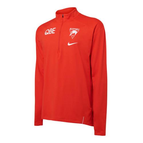Sydney Swans 2021 Nike Mens Element Half-Zip Top Red
