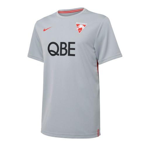 Sydney Swans 2021 Nike Mens UV Training Tee Wolf Grey